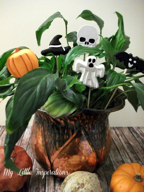 Decorazioni in gesso per Halloween - con zucche 2 - My Little Inspirations