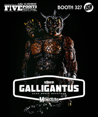 Five Points Festival Exclusive Coronation Galligantus Vinyl Figure by Justin Ishmael x Dski One x Han Cholo x Famous Monsters of Filmland