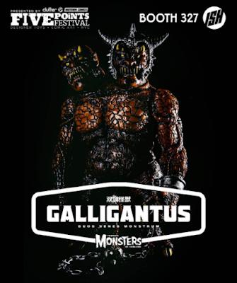 Five Points Festival Exclusive Coronation Galligantus Vinyl Figure by Justin Ishmael x Dski One x Han Cholo x Famous Monsters of Filmland