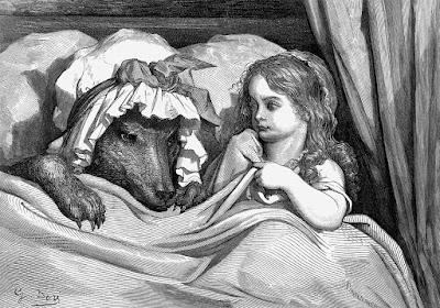 gustave doré cappuccetto rosso a letto con il lupo
