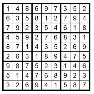 Brain Training with Cats Sudoku 27 Answerkey @BionicBasil®