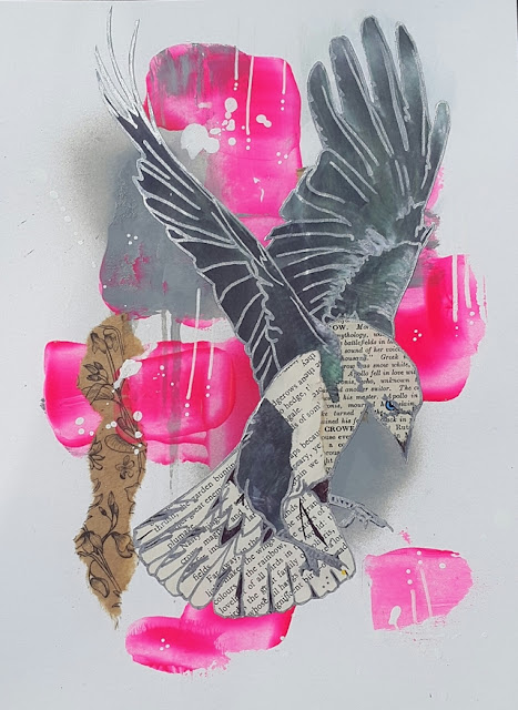 Whoopidooings: Carmen Wing - The Silver Crow Project - A grungy collage