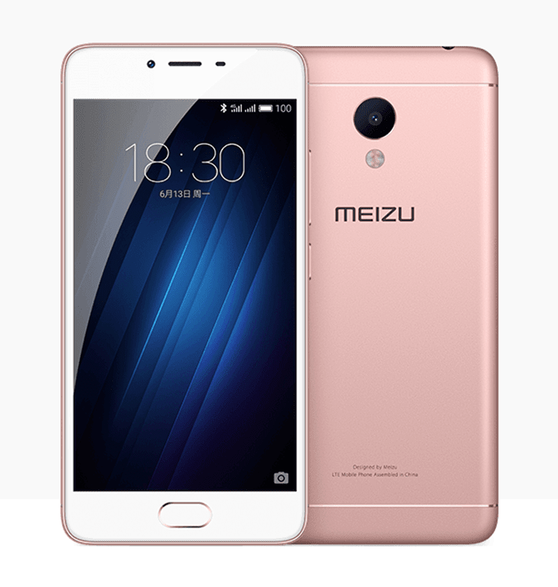 Meizu M3S in rose gold