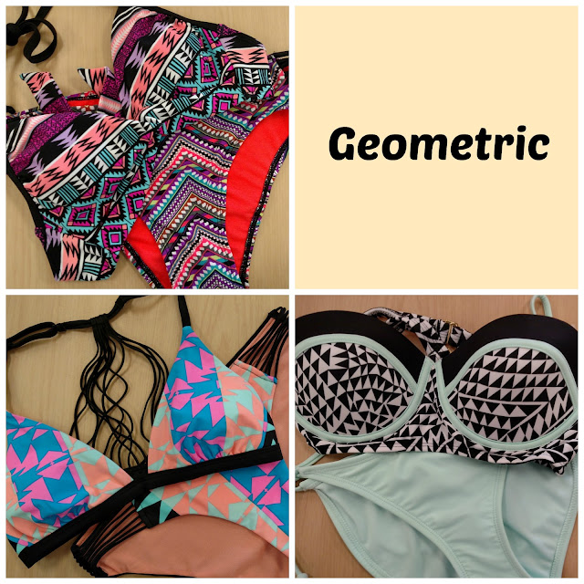 geometric print bikinis
