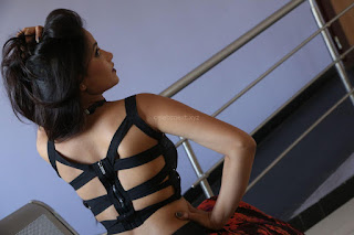 Shriya Vyas in a Tight Backless Sleeveless Crop top and Skirt 23.JPG