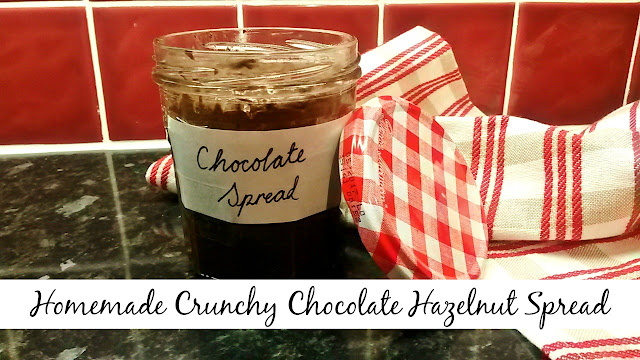 Jar of homemade chocolate spread