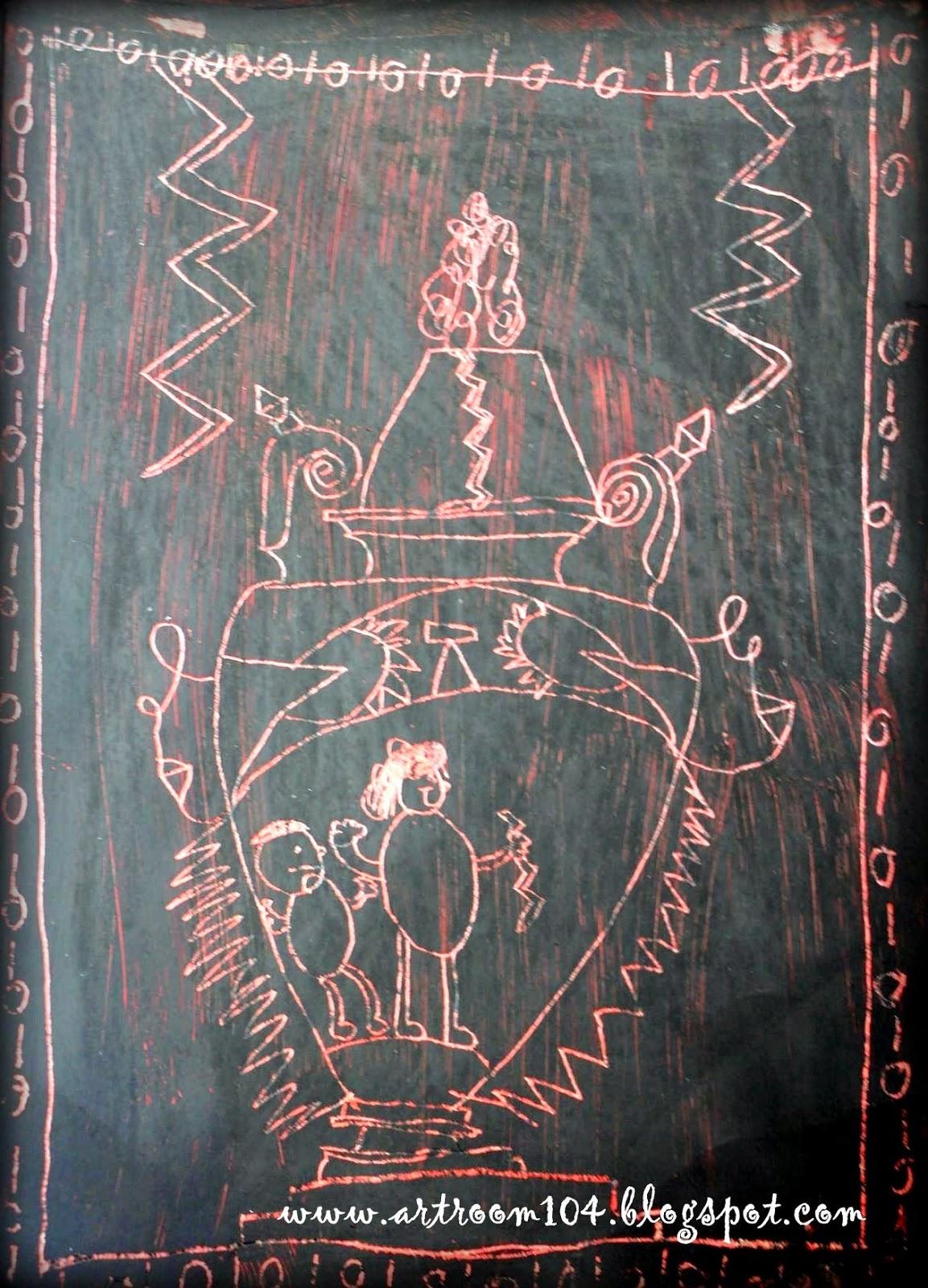Art Room 104 2nd Grade Scratch Art Greek Pottery