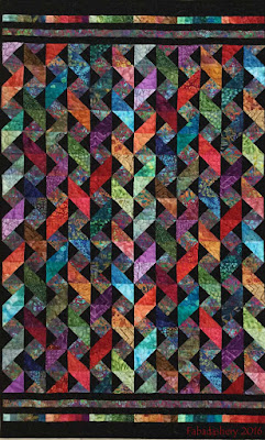 LW05 Colourwave Quilt by Frances Meredith Fabadashery