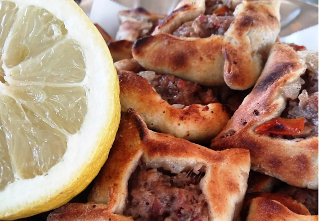 is typical to Heliopolis or Baalbeck the city of sun in the north of the Bekaa valley Sfeeha or Lebanese meat pies recipe