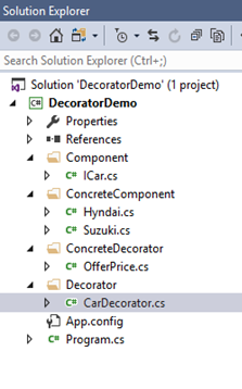 decorator design pattern implementation c#