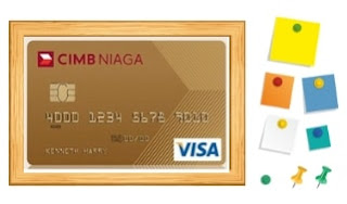 Design Kartu kredit CIMB Niaga Visa Gold