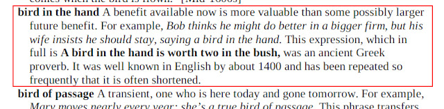 Arti Bird In the Hand