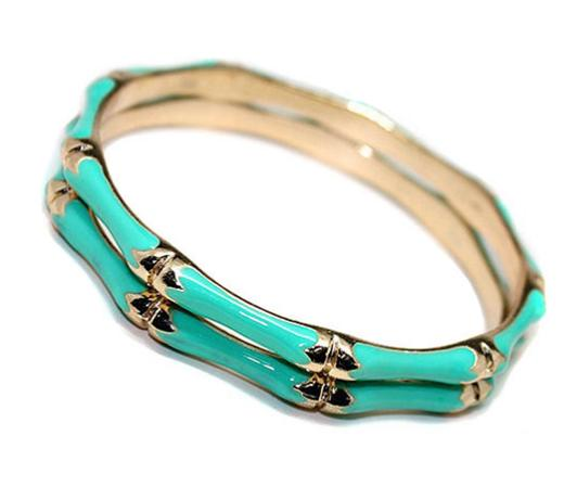 Turquoise Bamboo Style Bangles Lady Lucks Boutique