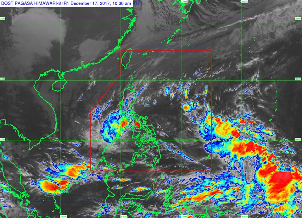 Tropical Depression Urduja satellite image courtesy of DOST-PAGASA.
