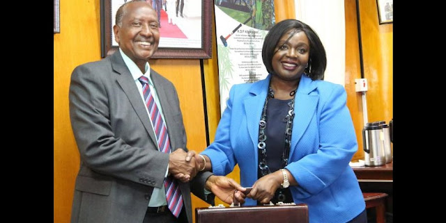 Defence CS Rachael Omamo during the inauguration of the Kenya Space Agency Board