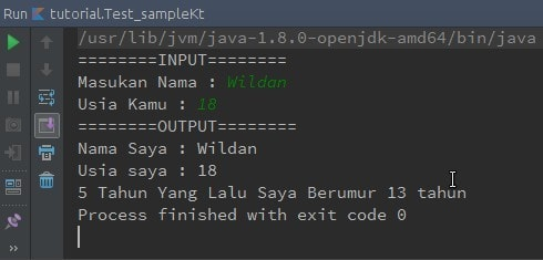 Output program menggunakan BufferedReader