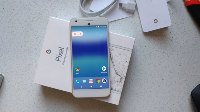 Google Pixel XL video-unboxing