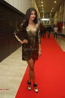 Pooja Hegde looks glamarous in deep neck sleevless short tight golden gown at Duvvada Jagannadham thank you meet function 001.JPG