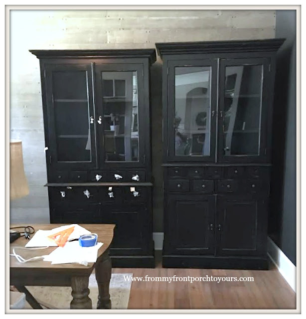 Home Office-Black Cabinet-Design Plan-DIY Office Makeover-Storage-From My Front Porch To Yours