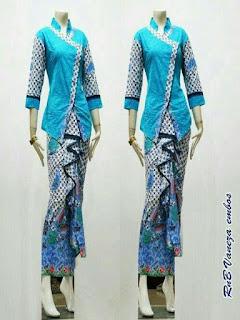 model baju batik pesta wanita muslim modern