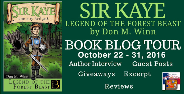 Sir Kaye Legend of the Forest Beast: Book Blog Tour, Guest Post, and Giveaway! #LoneStarLit