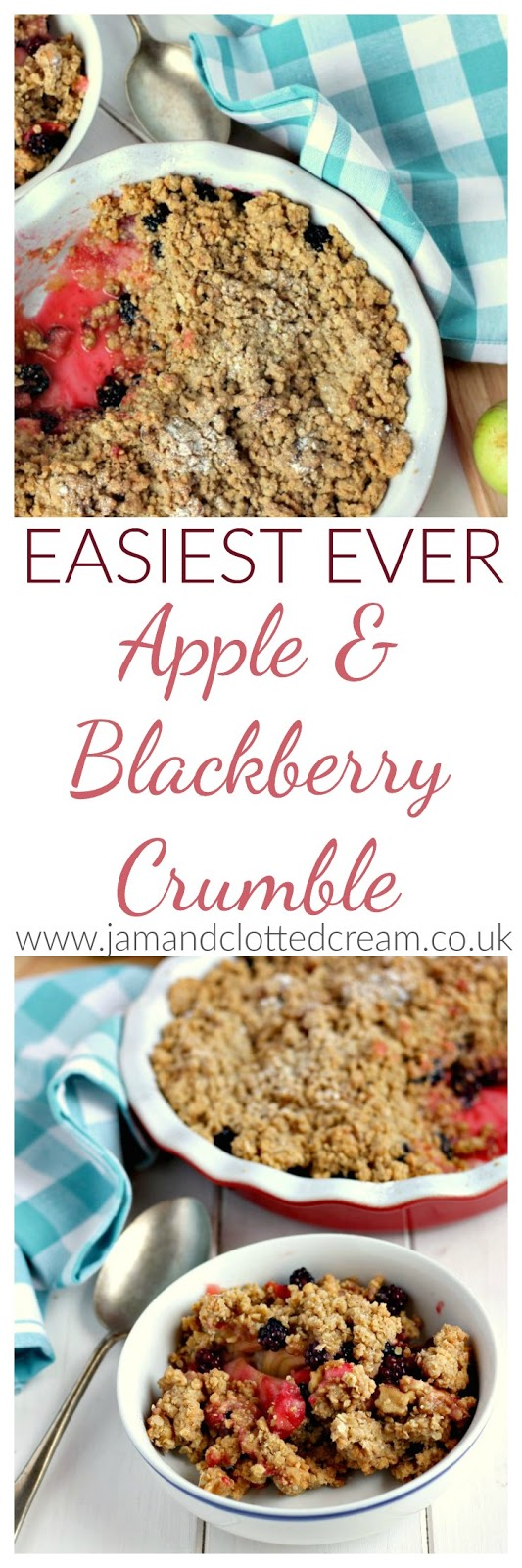 Easiest Ever Apple & Blackberry Crumble