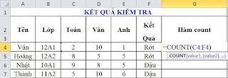 tinhoccoban.net - Hàm Count trong Excel