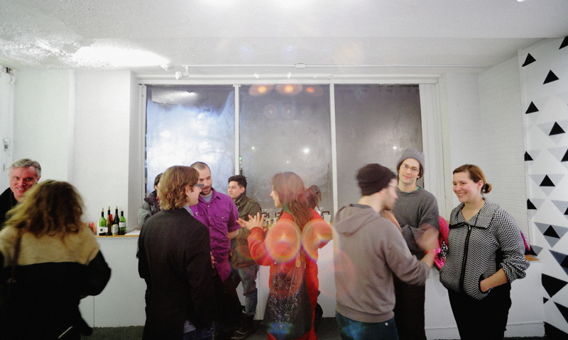 """Phase Transition"" opening reception @ Roman Susan"