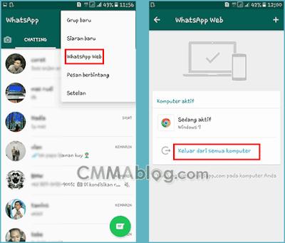 cara mengeluarkan whatsapp web dari hp