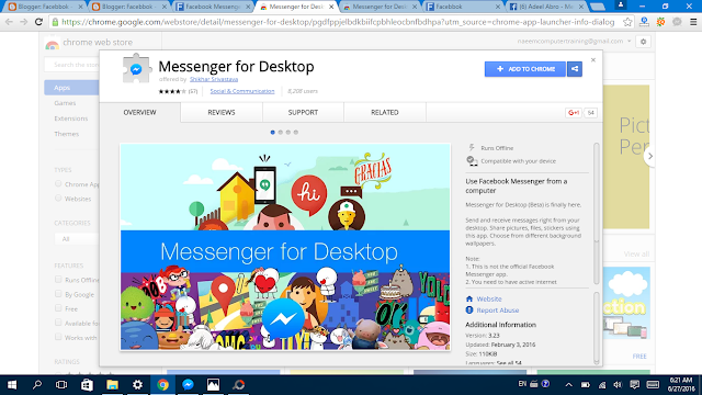 Facebook Messenger  for Desktop install it