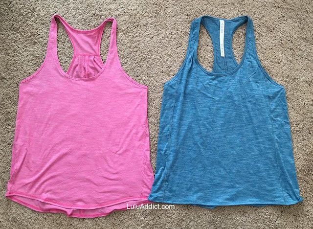 lululemon hotwave-tank salute-the-sun-tank-ii comparison