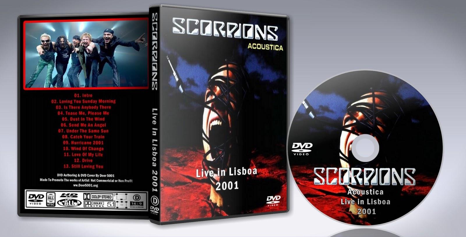 dvd do scorpions acoustica