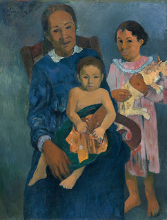Paul Gauguin - Polynesian woman with children,1901