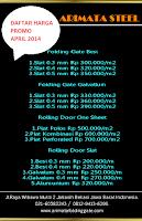 harga folding gate per meter