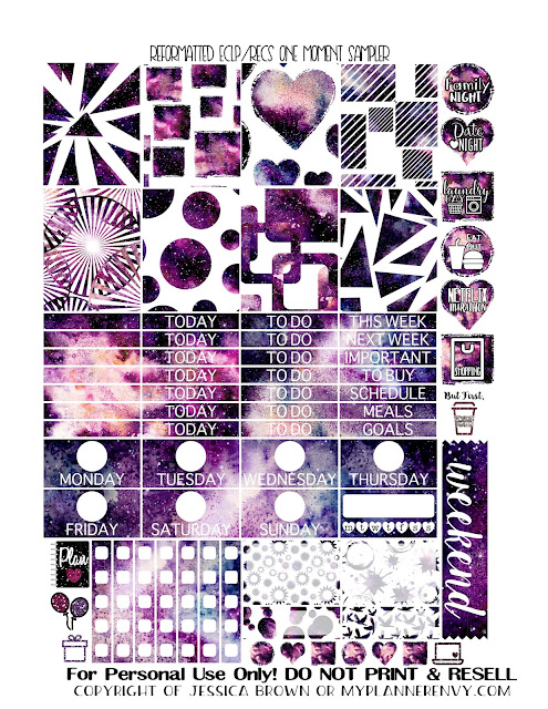 Free Printable Reformatted One Moment Sampler for the Vertical Erin Condren and Recollections Creative Year Planners from myplannerenvy.com