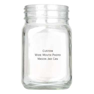 Custom Personalized Wide Mouth Mason Jar Can