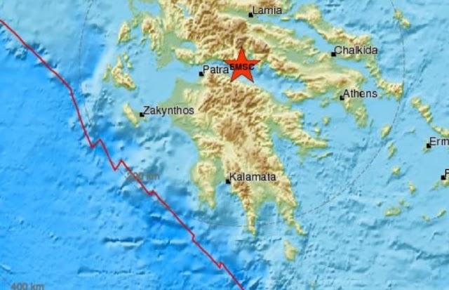 Σεισμός 5,3 Ρίχτερ στον Κορινθιακό Κόλπο. Αισθητός και στην Αττική