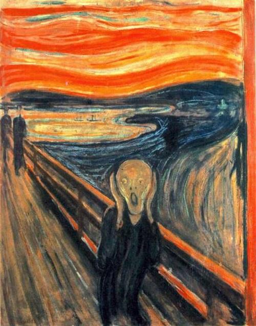 O Grito, de Edvard Munch. #PraCegoVer