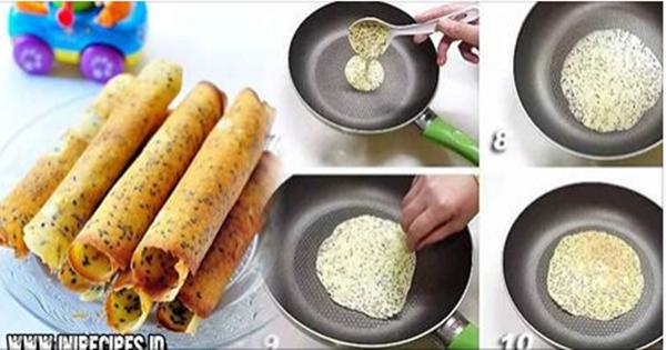 Resep Egg Roll Praktis Menggunakan Teflon