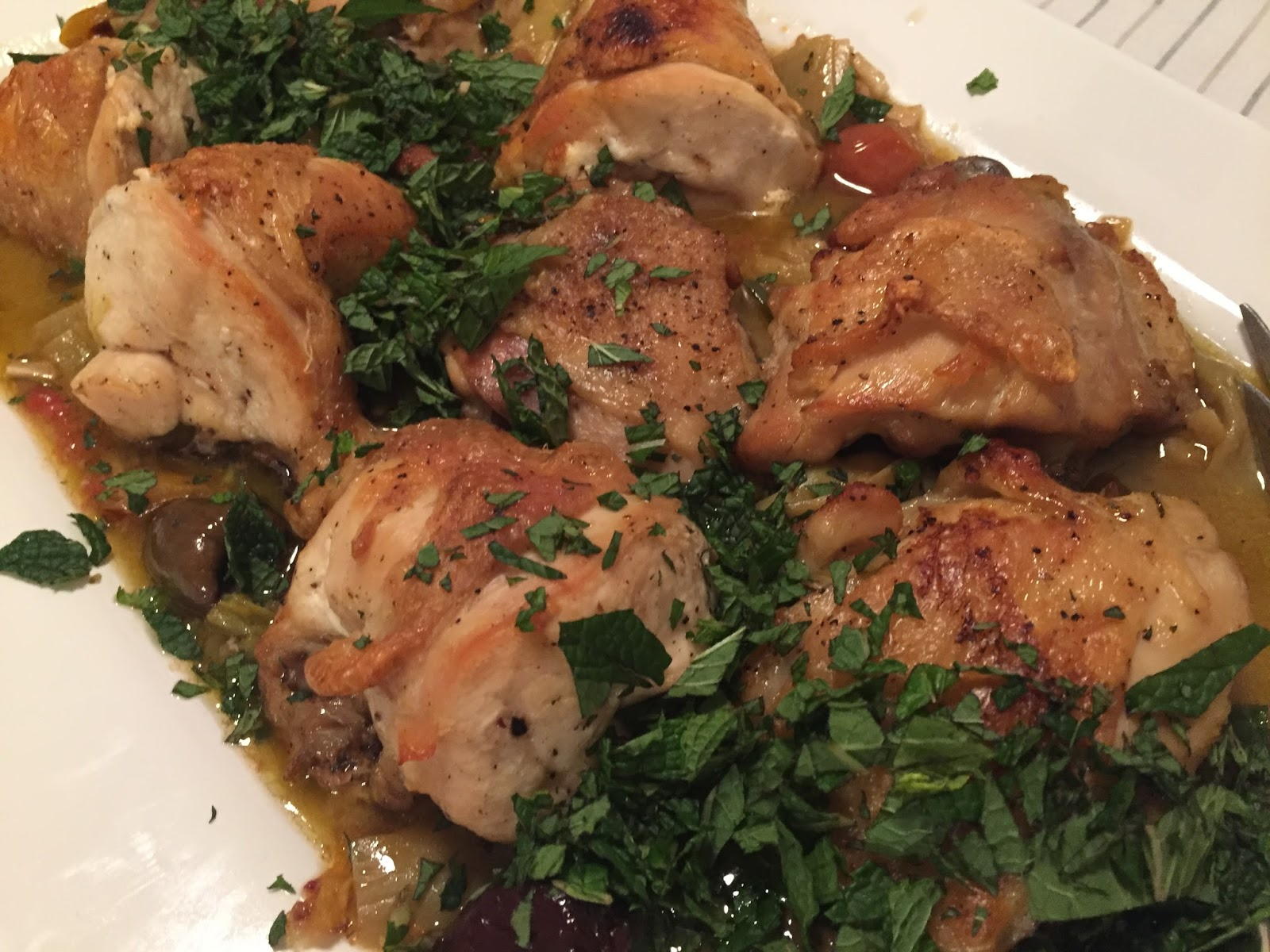 KnitOne,PearlOnion: Braised Chicken with Artichokes and Olives