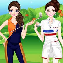 لعبة تلبيس ملابس الغولف