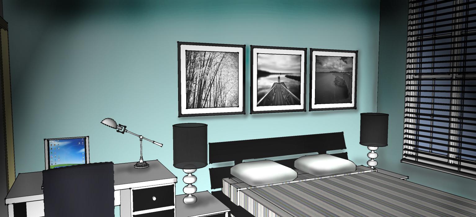 Apartment Furniture Plan Rendering