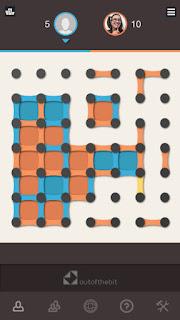 App de lógica: juego de mesa puntos y cajas en móvil