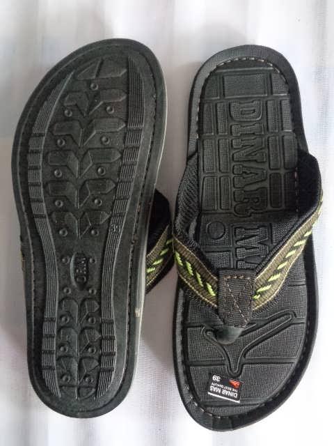 Sandal Spon Dinar MAs Tali belang tampak atas