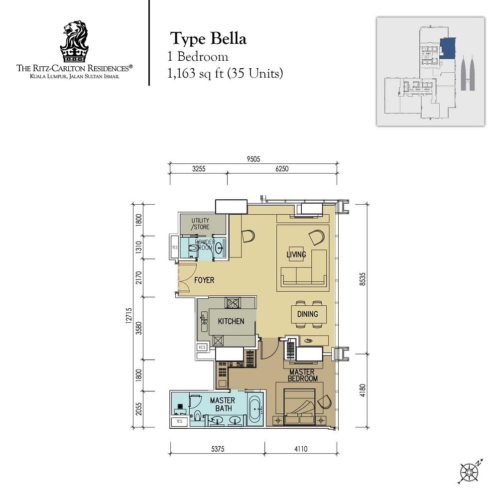 1 Desa Residence Floor Plan First Residence Kepong Baru