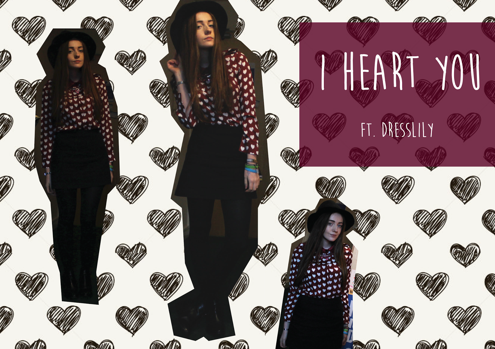 heart print shirt, burgundy white heart shirt blouse, burgundy aw13 inspired shirt, dresslily blogger review