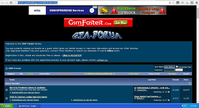 How to register at the forum gsm