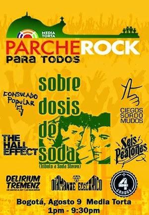 cartel Parche Rock Bogota