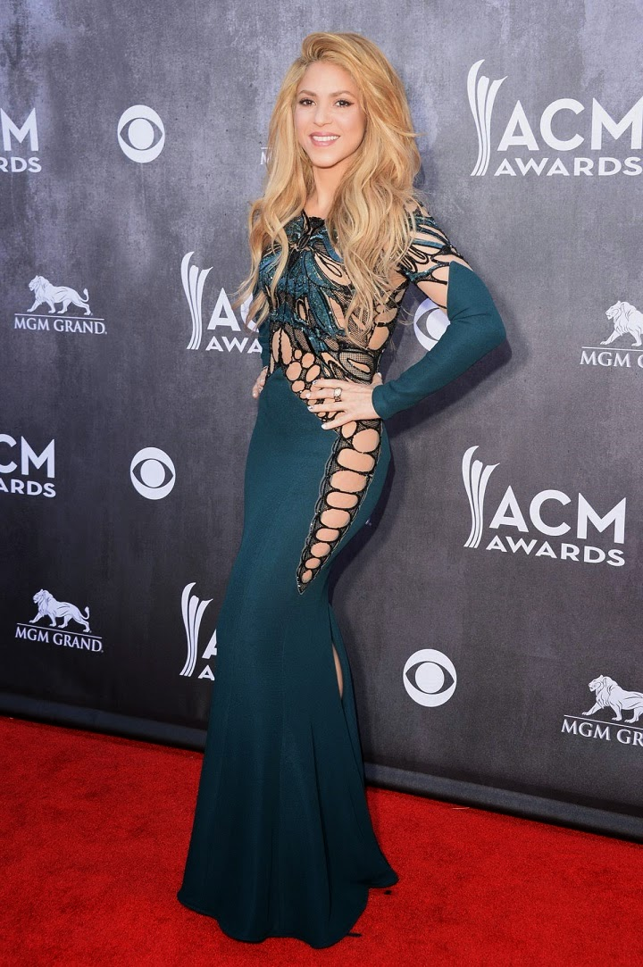 Shakira wears a revealing Zuhair Murad dress to the 2014 ACM Awards