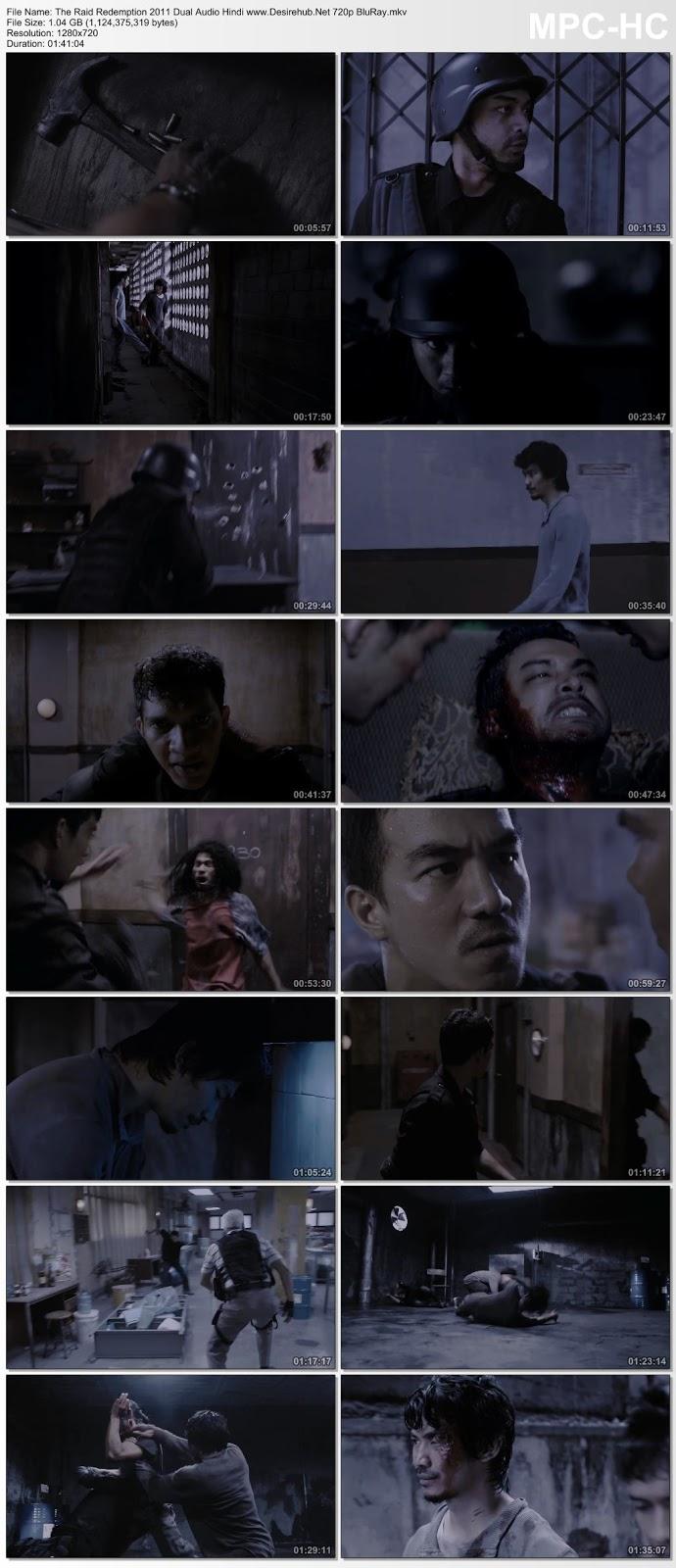 The Raid Redemption 2011 Dual Audio Hindi 720p BluRay 1GB Desirehub